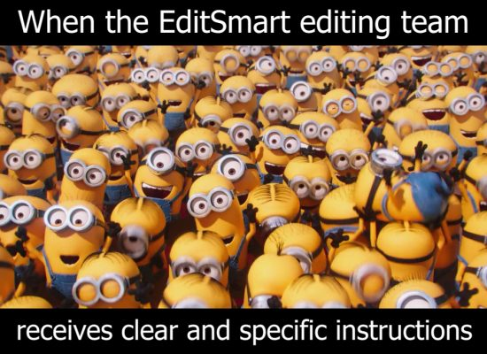 Minions clear and specific instructions